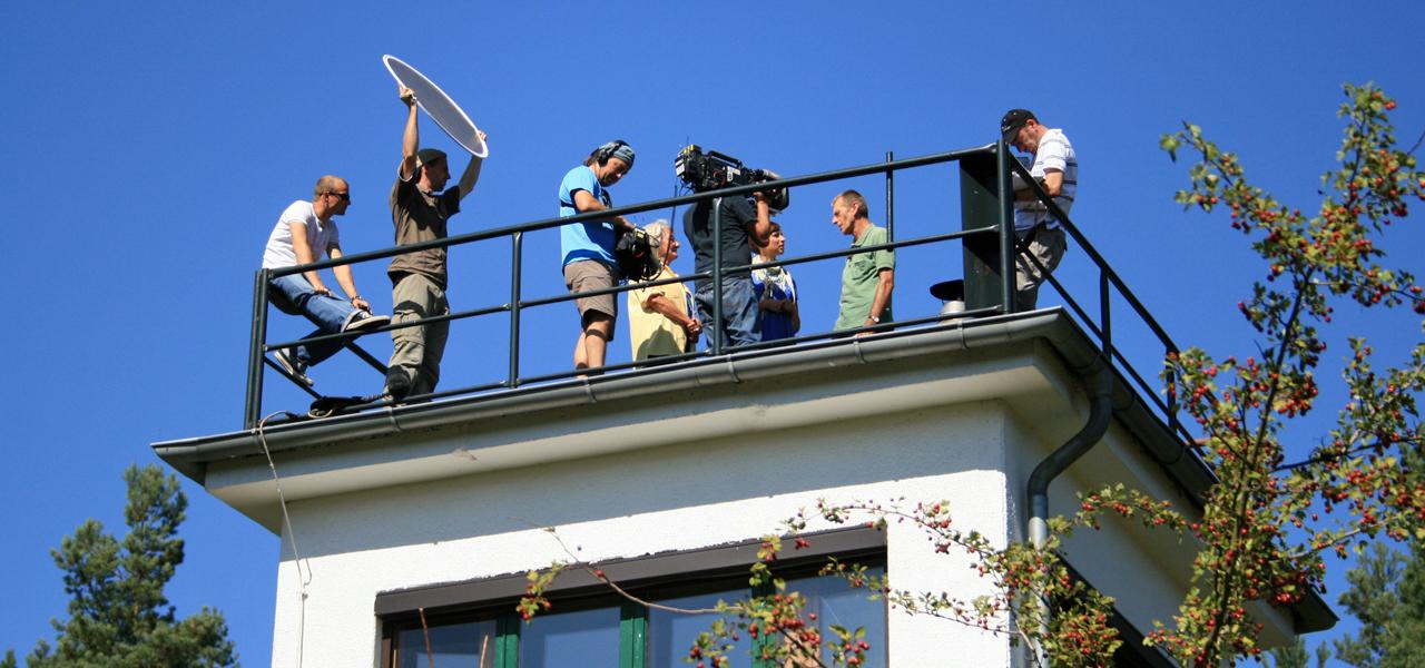 Filmaufnahmen am Naturschutzturm