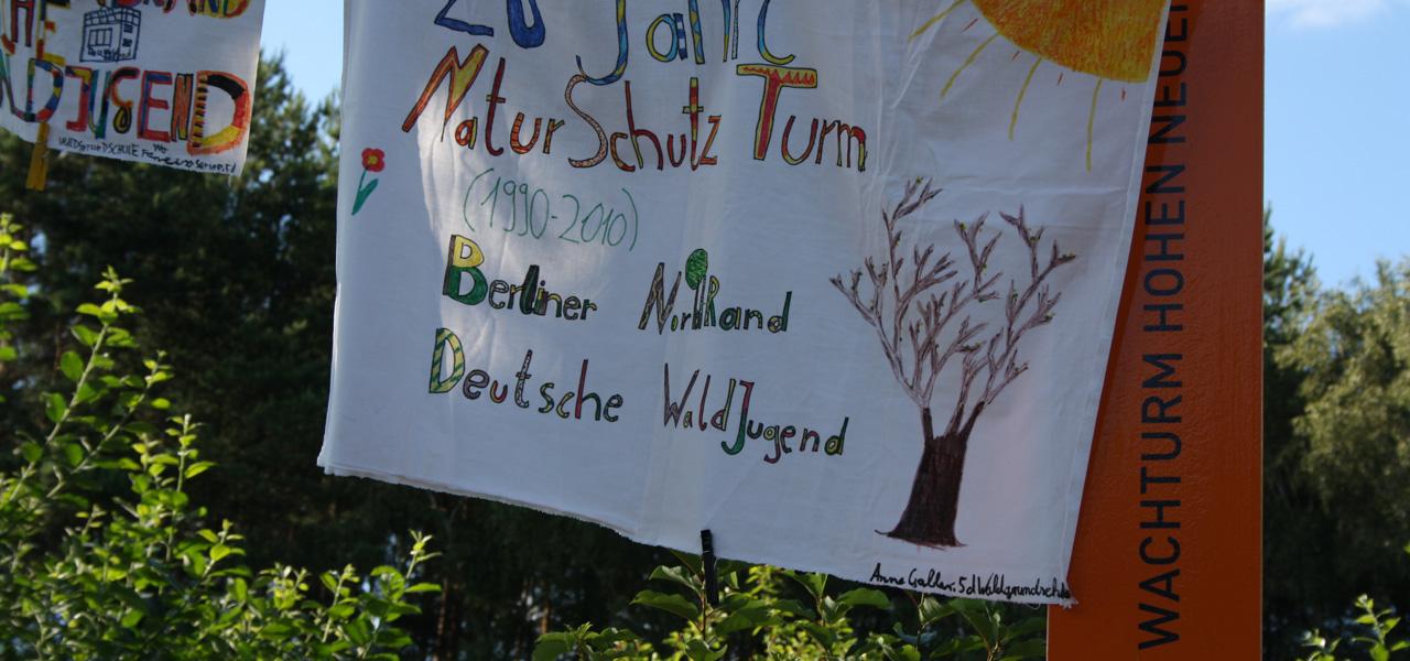 Gedenkstele am Naturschutzturm