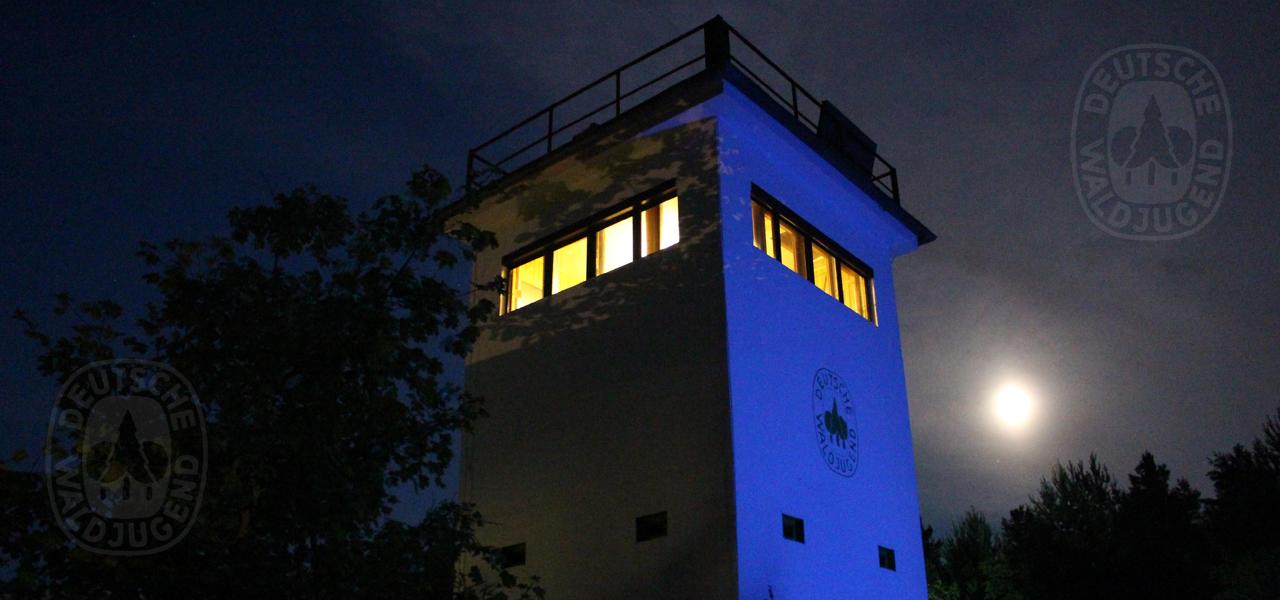 Schatten auf dem Naturschutzturm